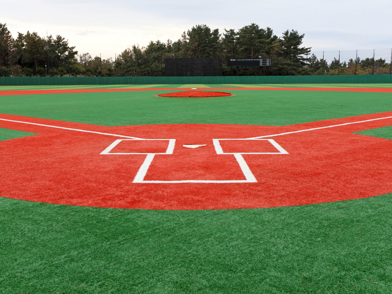 turf baseball field
